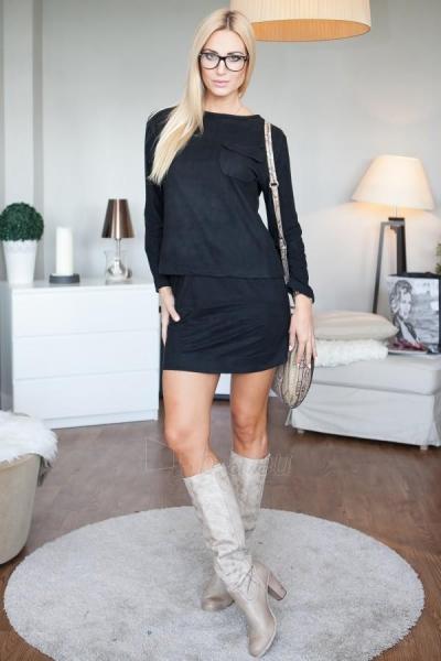 Zomšinis komplektas Amanda: sijonas + palaidinė (juodos spalvos) Paveikslėlis 1 iš 4 310820035330