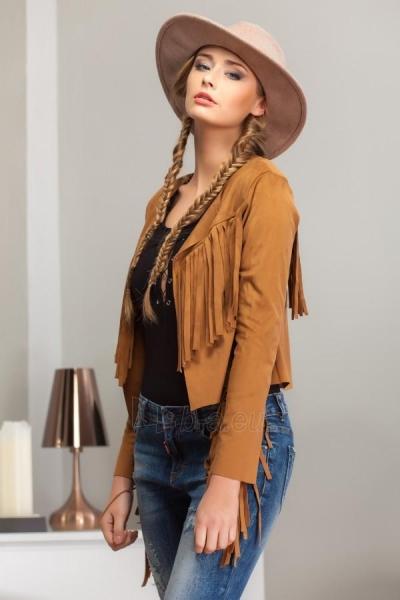 Zomšinis megztinis su kutais Jeel (karamelinės spalvos) Paveikslėlis 1 iš 5 310820035200