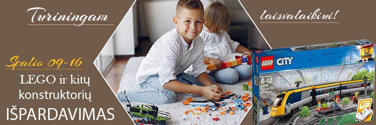 Turiningam laisvalaikiui - Lego ir kitų konstruktorių išpardavimas