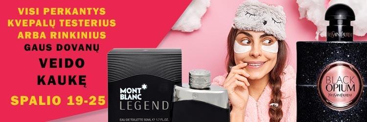 Pirk kvepalų testerius arba rinkinius ir gauk dovanų veido kaukę!